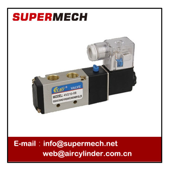4V210-08 Airtac Type Cheap Pneumatic Control Solenoid Valve DC 24V pictures & photos