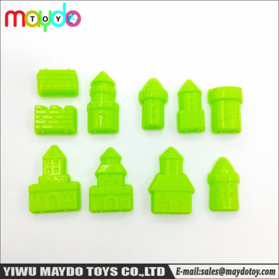 10Pcs Assorted Sand Clay Molds Toy Plastic Princess Castle Models pictures & photos