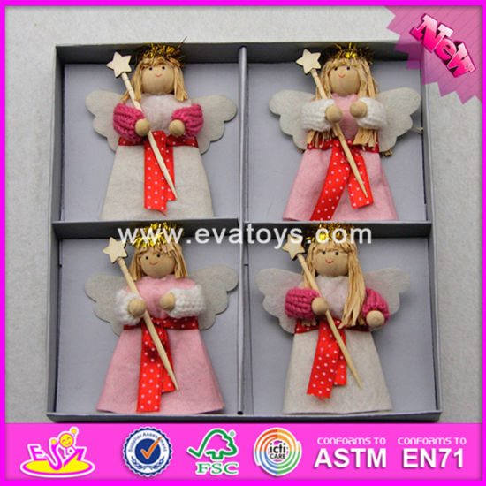 2017 New Products Christmas Lovely Toys Wood Crafts for Kids W02A248