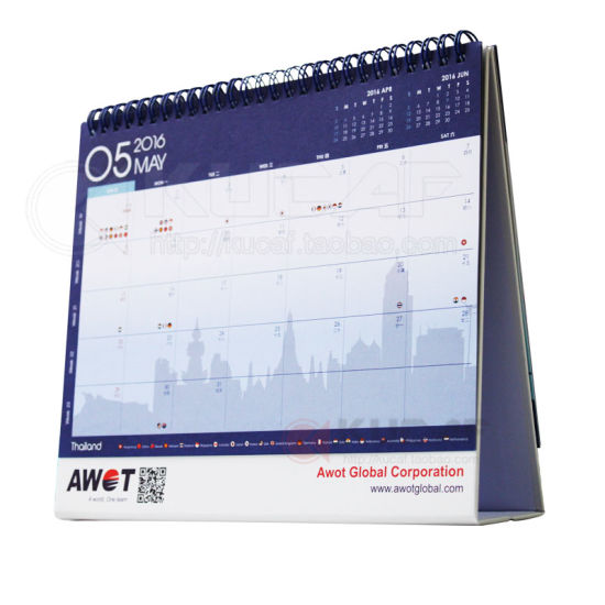 High Quality Office Supply Paper Table Calendar pictures & photos