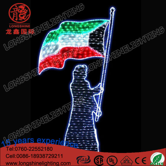 LED Street Pole 3m Holiday Light for Kuwait National Day pictures & photos