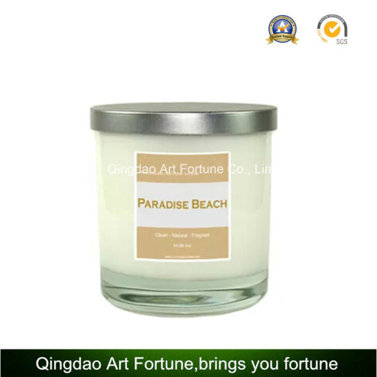 Printed Glass Scented Jar Candle for Wholesale pictures & photos