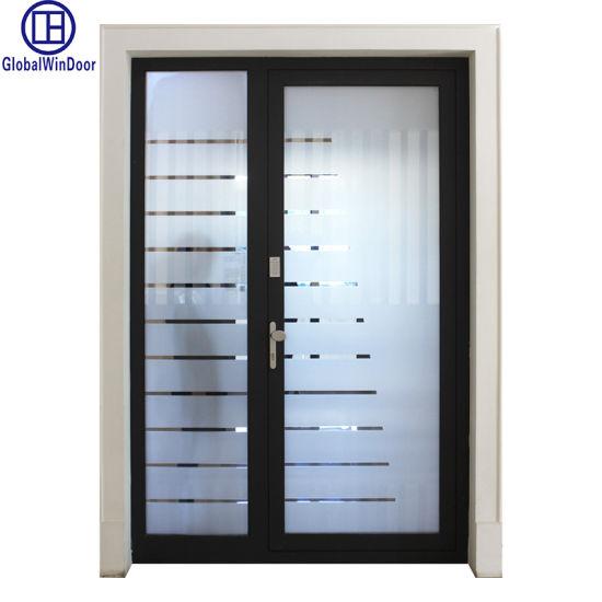 Aluminium Profile Finished Exotic Swing Modern Interior Wood Door
