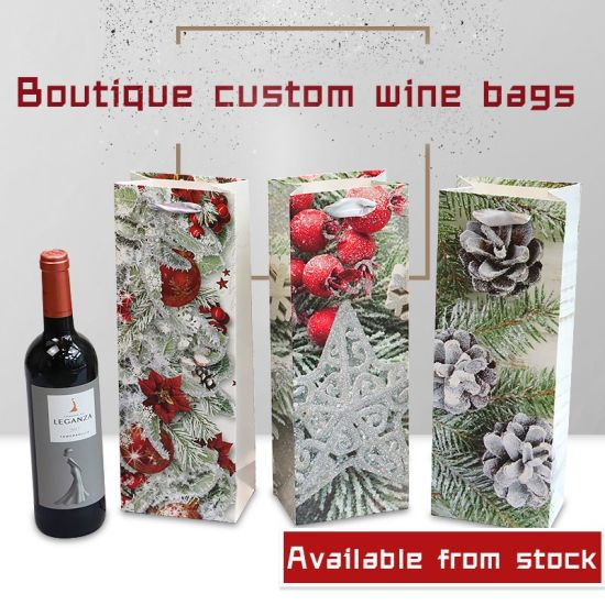 Christmas Wine Paper Bag Boutique Gift Bag Ready Stock Paper Bag