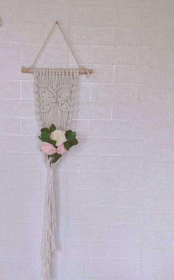 Organic Cotton Macrame Plant Hanger Hanging Planter