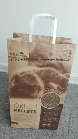 Kraft Packaging Paper Bag for Cat Litter pictures & photos