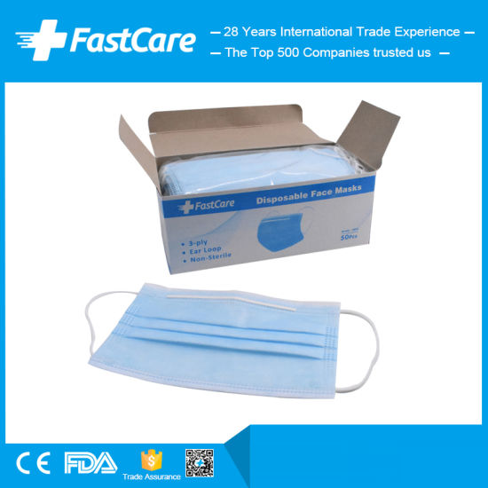 Manufacturer Suppliers of China 3ply 3 Ply Earloop Disposable Surgical Face Mask