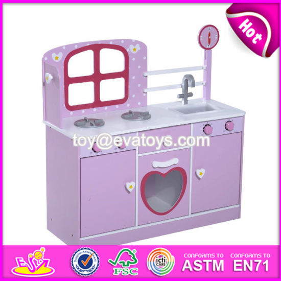 New Products Purple Small Wooden Toddler Play Kitchen For W10c264