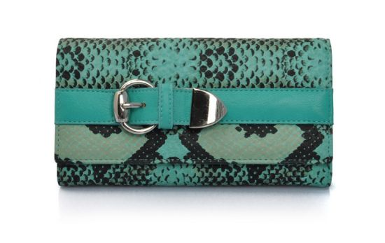Turquoise Snake Leather Lady Purse From China Factory