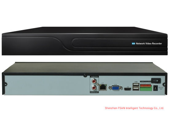 Fsan H. 265 8CH Full Real-Time Network Video Recorder 1u Security NVR