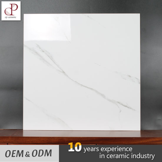 China Factory Price Carcara White Marble Design Glazed Porcelain ...
