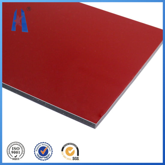 China Red Color 4mm/5mm/6mm Aluminum Composite Panel/Acm