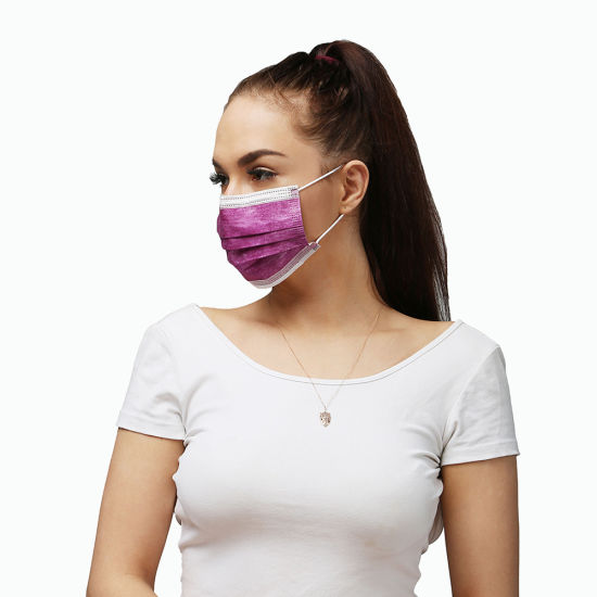 Health Protective Disposable 3-Ply Non Woven Face Dust Mask for Protection