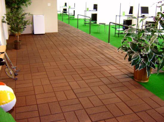 Brick Surface Rubber Patio Paver Tiles