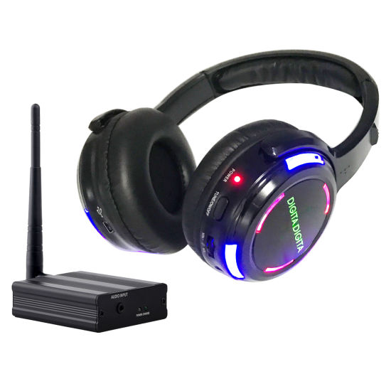 FM Wireless Headphones for Home Party Silent Disco One Transmitter to Hundreds Headphones Receiving 500m Distance