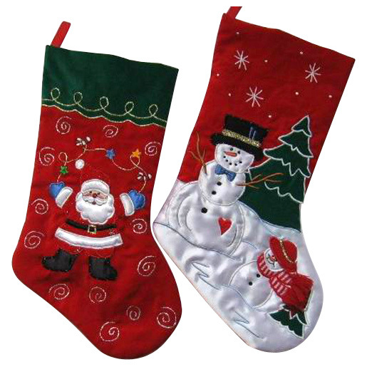High Quality Velvet Christmas Stocking pictures & photos