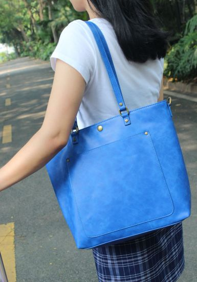 Hot Sale Women Lady Female Girlfriend Mom Wife Gift Shopping Grocery Travel Working Office Commute Big Capacity Laptop Fashion PU Leather Tote Shoulder Bag