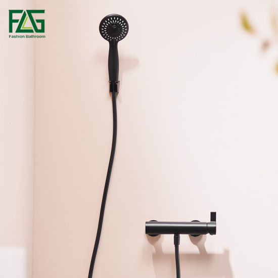 Flg Modern Sanitary Ware Blacking Painting Wall Mounted Hand Shower Set