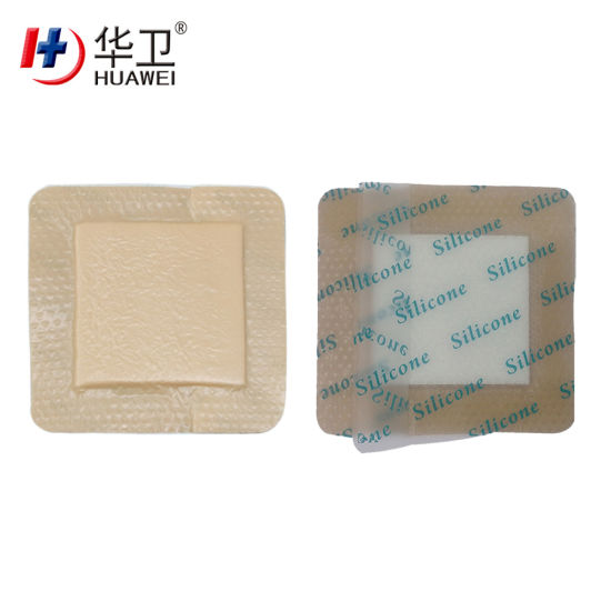 Waterproof Silicone Foam Dressing with Border (Adhesive) 10cmx10cm