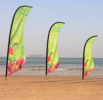 Hot Sale Cheap Price 3m Outdoor Custom Printing Feather / Rectangular / Tearddrop Beach Flag Banners for Advertising