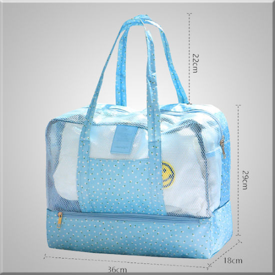 Mesh Beach Tote Bag Insulated Shoulder Bag Outdoor Handbag Travel Shower Bag US