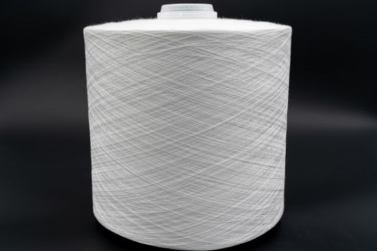 Raw White 100% Spun Polyester Yarn 42/2 for Clothes Overlocking pictures & photos