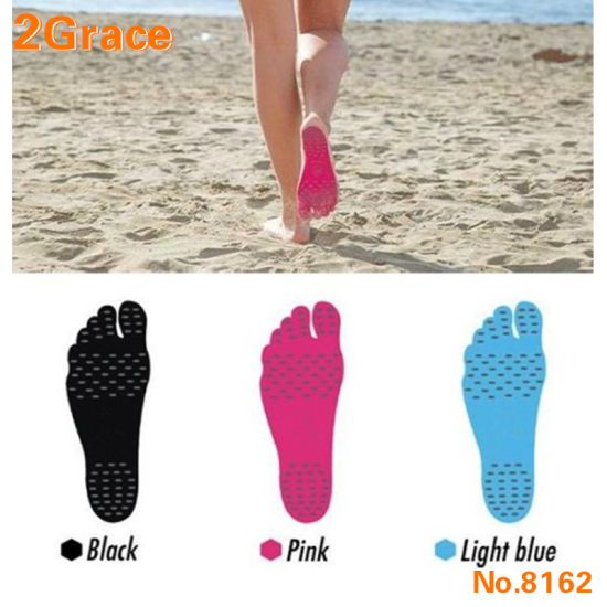 Adhesive Invisible Pad Shoes for Water, Barefoot Shoes on Foot Soles with Anti-Slip and Waterproof Design for Barefoot Lover, Sum