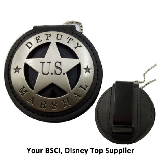 BSCI Audit Supplier Customized Metal and Leather Army Police Pin Badge