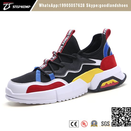 Men Cotton Fabric Strap Chunky Sole Sports Shoes Running Men Basketball Sneakers Shoes 9339