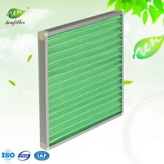 Primary Efficiency Panel Filter Synthetic Fiber Metal Mesh Air Filter G4
