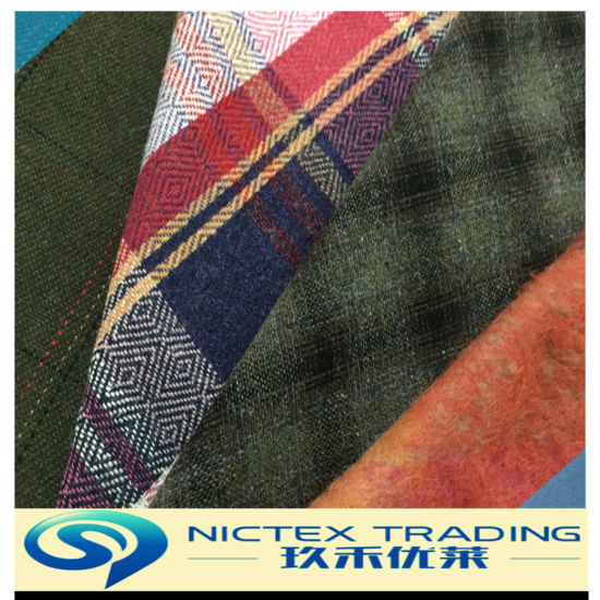 Woven Tweed Wool Fabric for Women, Wool Fabric
