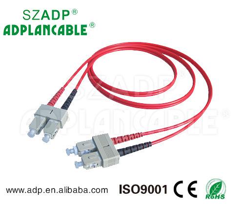 LC//SC 62.5//125 Duplex Multi Mode Optic Fiber Optics Patch Cable Cord 6ft 2m