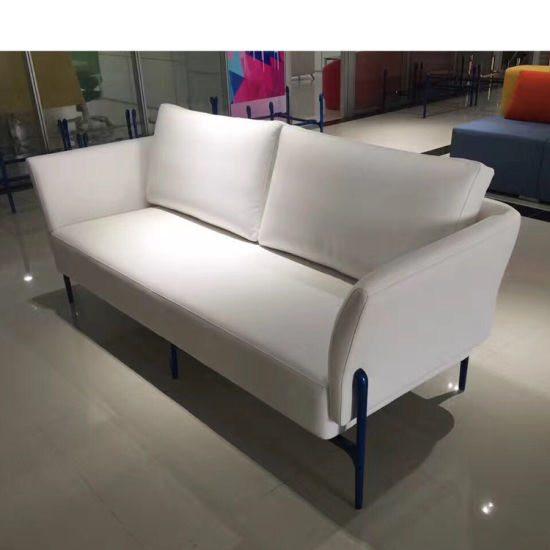 Por Simple Style Office Furniture Leather Sofa In White Color