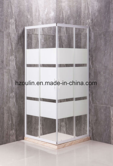 Square Shower Enclosure with White Finish for European Market.