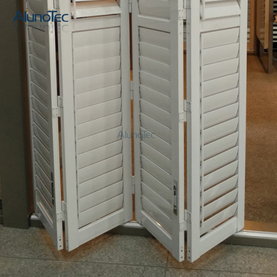 Factory Direct 90mm Louver Folding Plantation Shutter pictures & photos