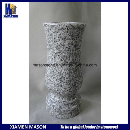 China Cheap Grey Granite Memorial Vases For Sale China Vases For