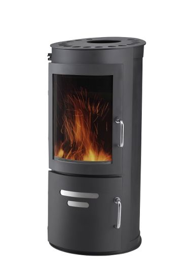 Wood Burning Stove Cl07b 7kw Round Shape Round Fireplace Big