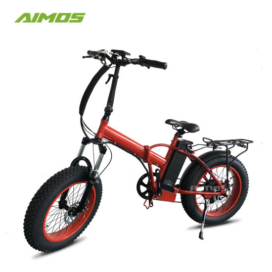 Aimos Wholesale Folded Folding Snow Electric Bike for Beach Cruiser