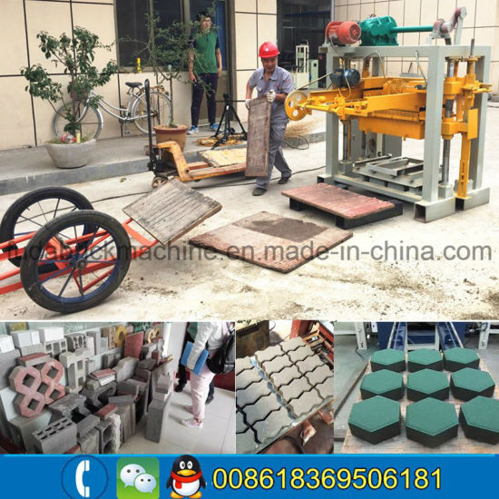 Qt40-2 Small Manual Cement Block Machine Vibrator Brick Making Machine pictures & photos