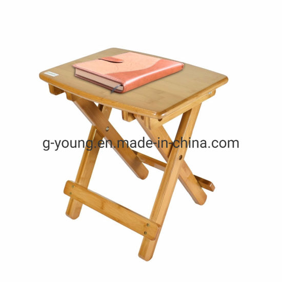 China Folding Step Stool Bamboo