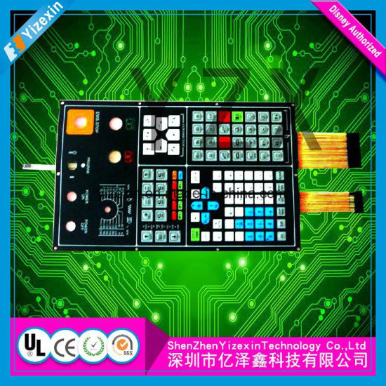 Industrial Control Touch Panel Membrane Switch Embossed Buttons Membrane Keypad
