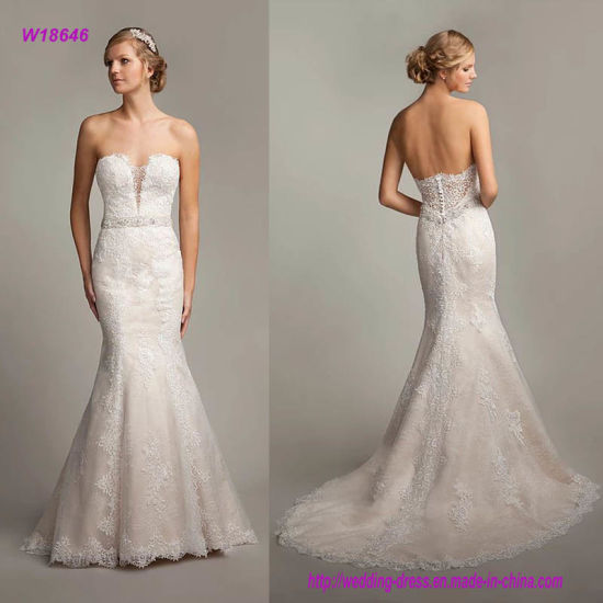 b302609d26d China Sexy Strapless Sweetheart Neckline Trumpet Wedding Dress with ...