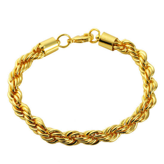 New Bangle Man Gift Gold Bracelet Jewelry Set