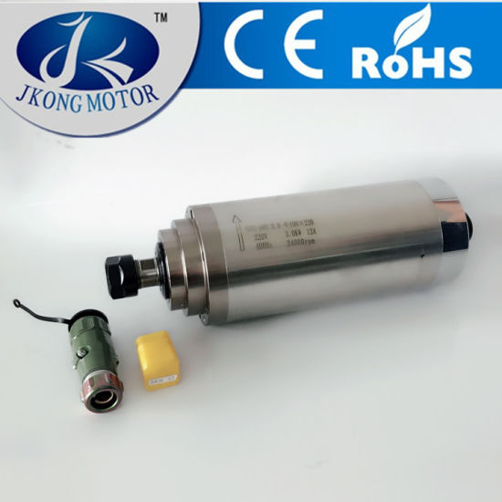 3kw Water Cooled Square Constant Torque Spindle Motors 220V for Woodworking CNC Router pictures & photos