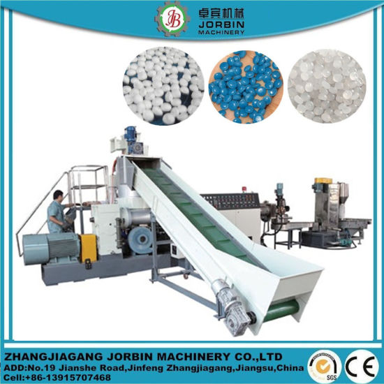 Automatic Single Screw Extruder HDPE LDPE PP PE Film PP Woven Bag Recycling Pelletizing Single Screw Etruder Extrusion Machine Line