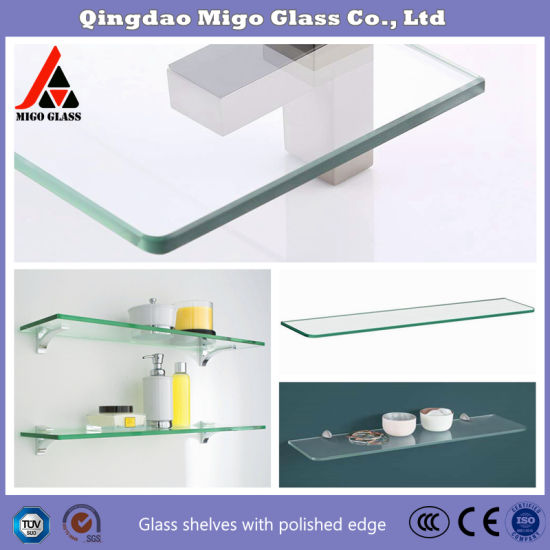 China Floating Glass Shelves Glass Wall Shelves For Living Room