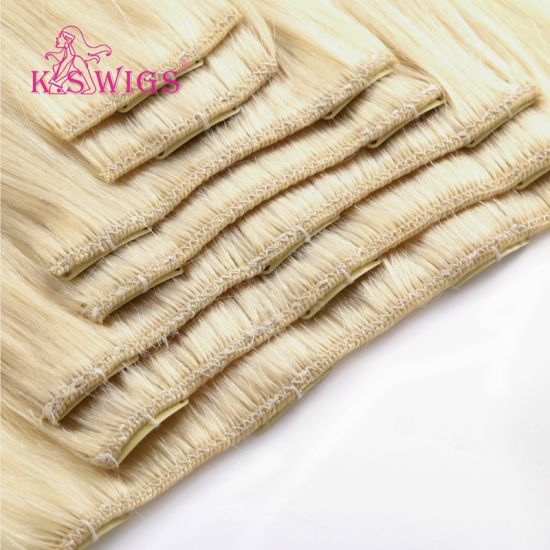 Clip Hair Extension Remy Brazilian Human Hair Extension pictures & photos