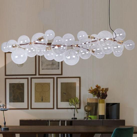 Modern Led Decoratvie Clear Round Ball, Glass Bubble Chandelier Lighting