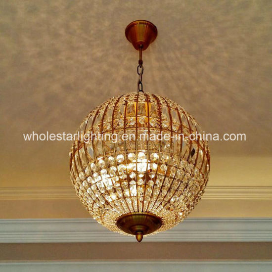 China Metal Round Crystal Ball Lamp Whg 711 China Pendant Lamp Chandelier