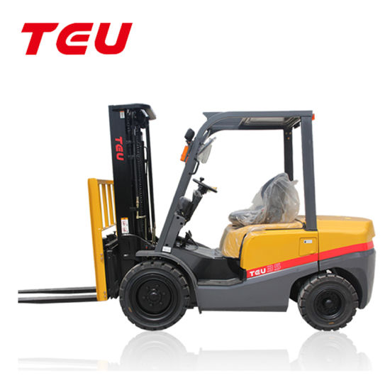 China Teu 3.5t Diesel Automatic Hydraulic Diesel Forklift, Japanese & Chinese Engine